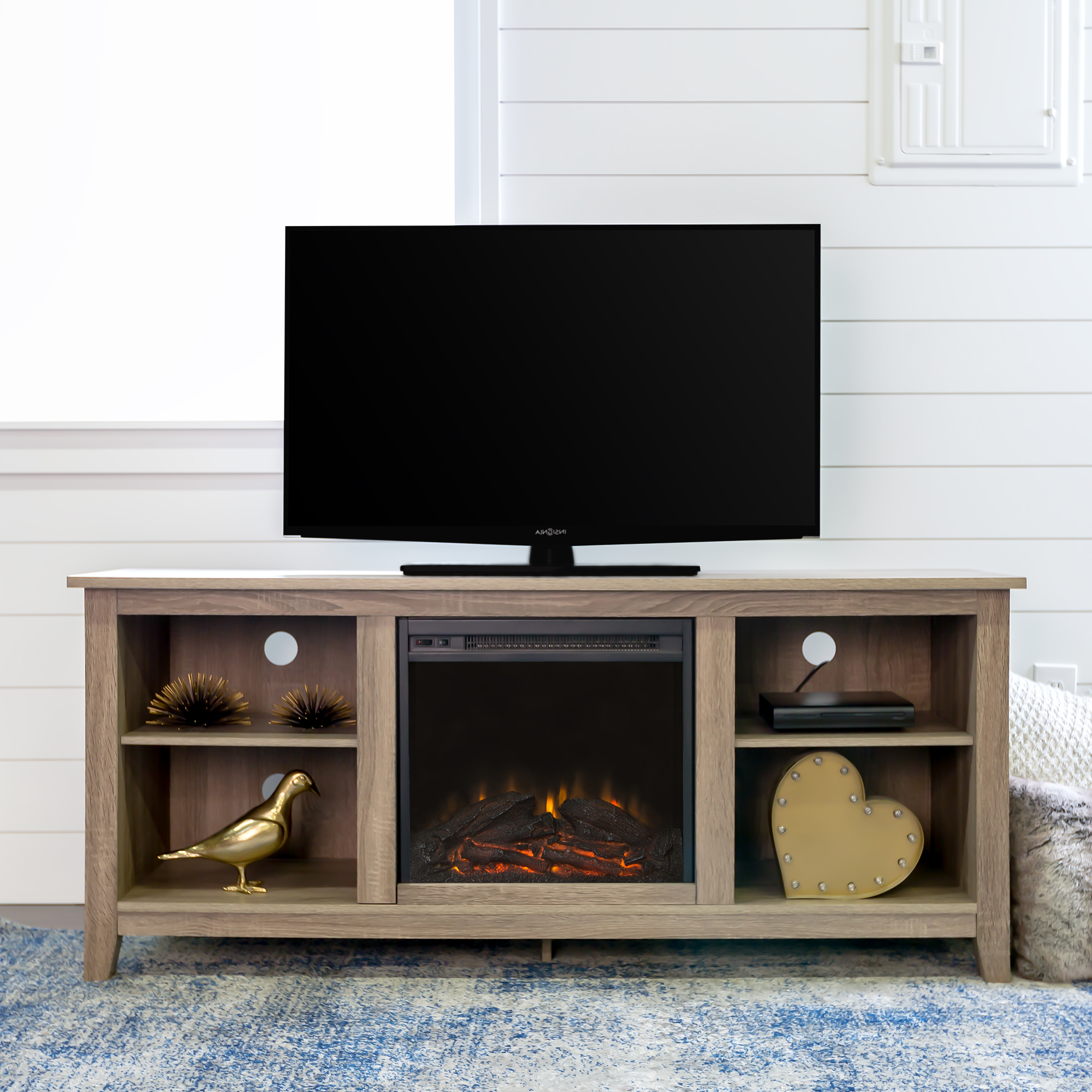 Tv Stands With Storage Baskets Throughout Famous Tv Stands & Entertainment Centers – Walmart (View 18 of 20)