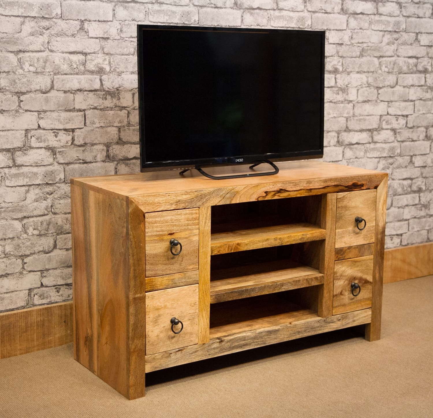 Tv Unit 100cm Within Favorite Mant 128 Stv 100cm Tv Cabinet With 4 Drawers (View 15 of 20)