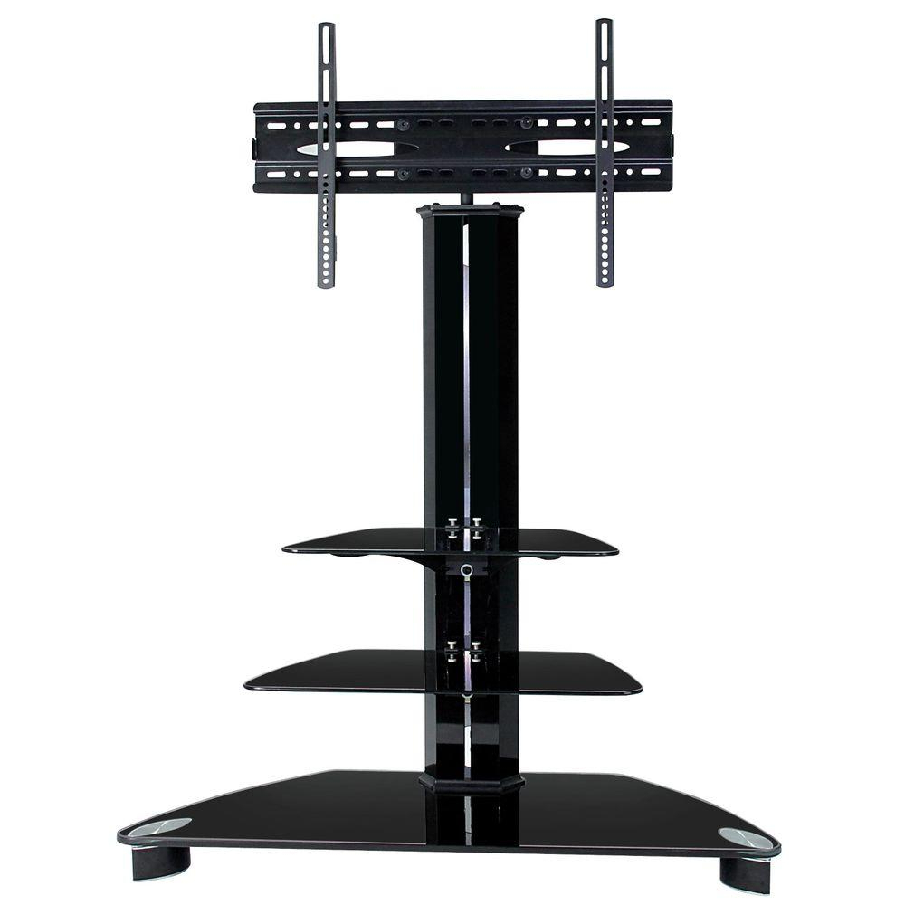 Tygerclaw Black Entertainment Center Lcd8221blk – The Home Depot Throughout Most Popular Tv Stands With Bracket (View 19 of 20)