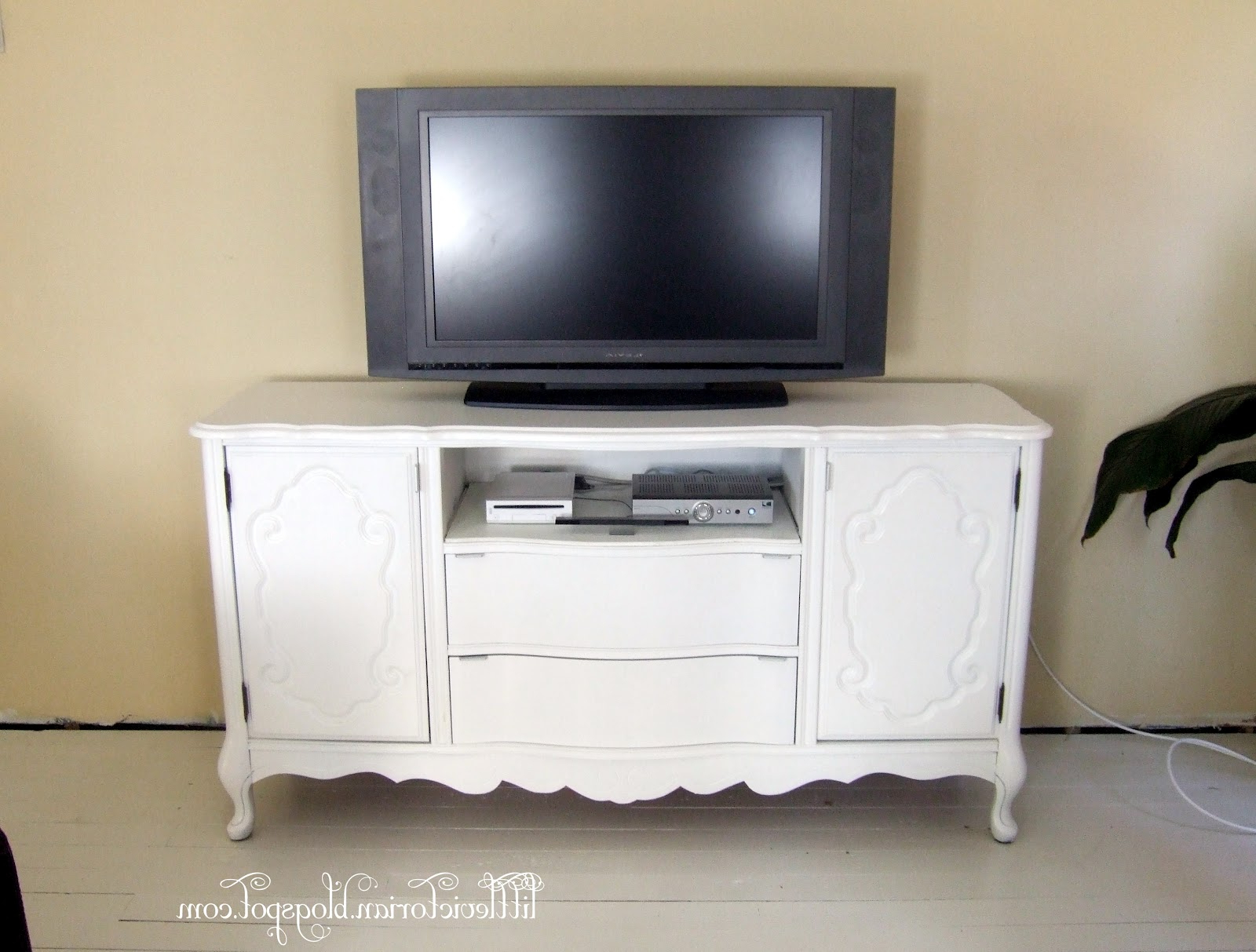 Ugly Old Sideboard To Tv Stand · Little Victorian Regarding Most Popular Sideboard Tv Stands (View 4 of 20)