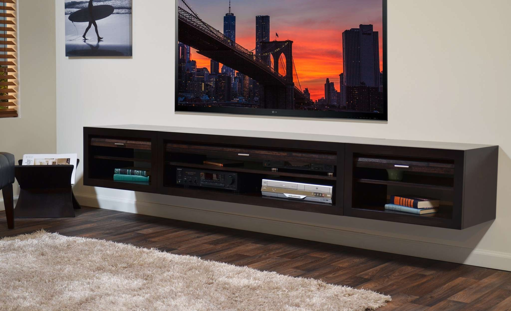 Under Tv Cabinets Throughout Most Up To Date Furniture: Cute Floating Tv Stand For Home Furniture Ideas With (View 16 of 20)