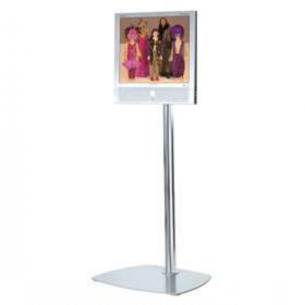 Unicol Tevella Tvv1 Upright Tv Stand In Black Lcd Floor Stands Pertaining To Widely Used Upright Tv Stands (View 13 of 20)