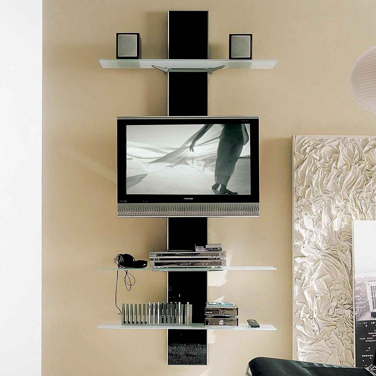 Unique Corner Tv Stands For Newest Cheap Corner Tv Stand Tall Wall Mounted Shelves Black Of Including (View 13 of 20)