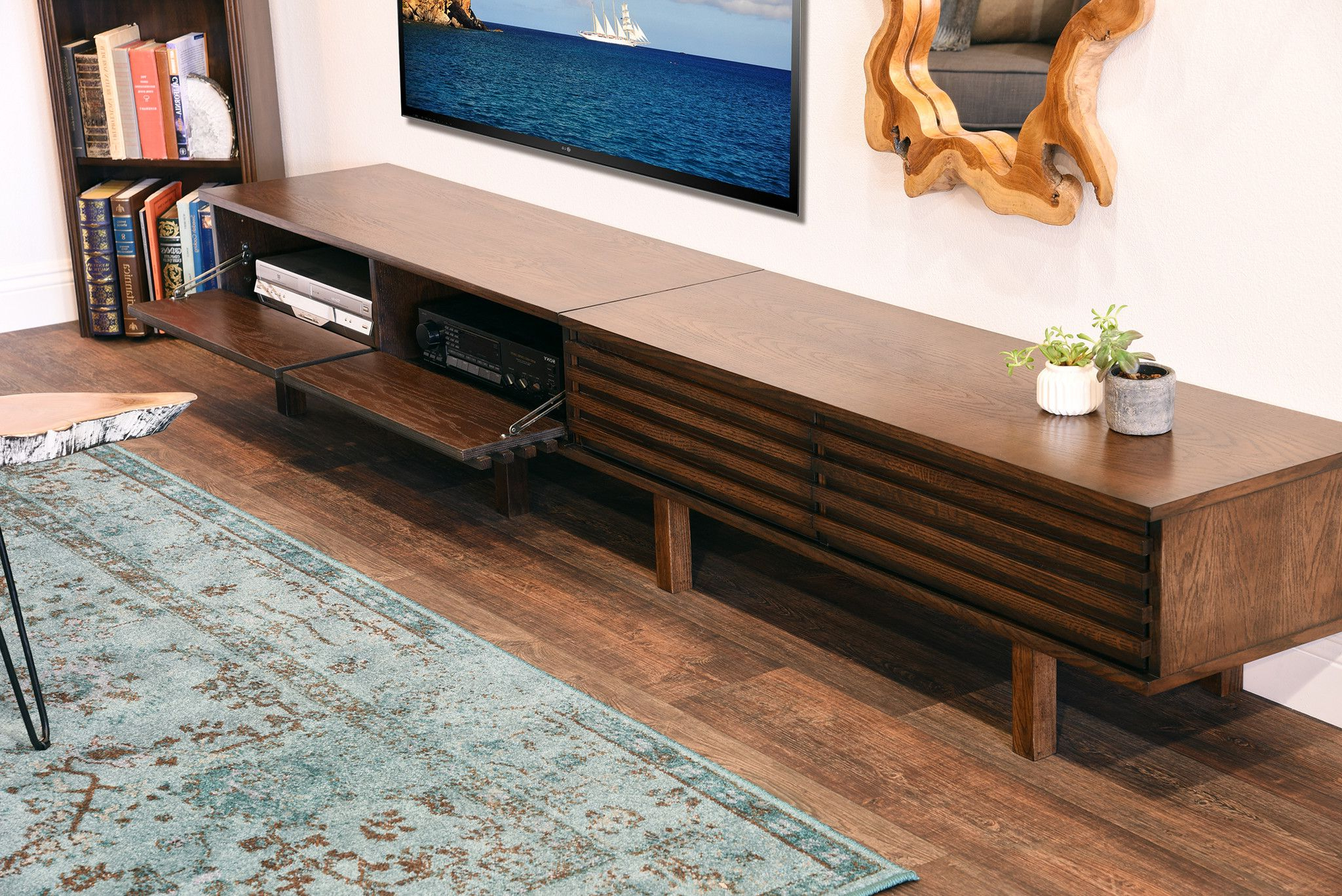 Unique Low Profile Media Console (Gallery 4 of 20)