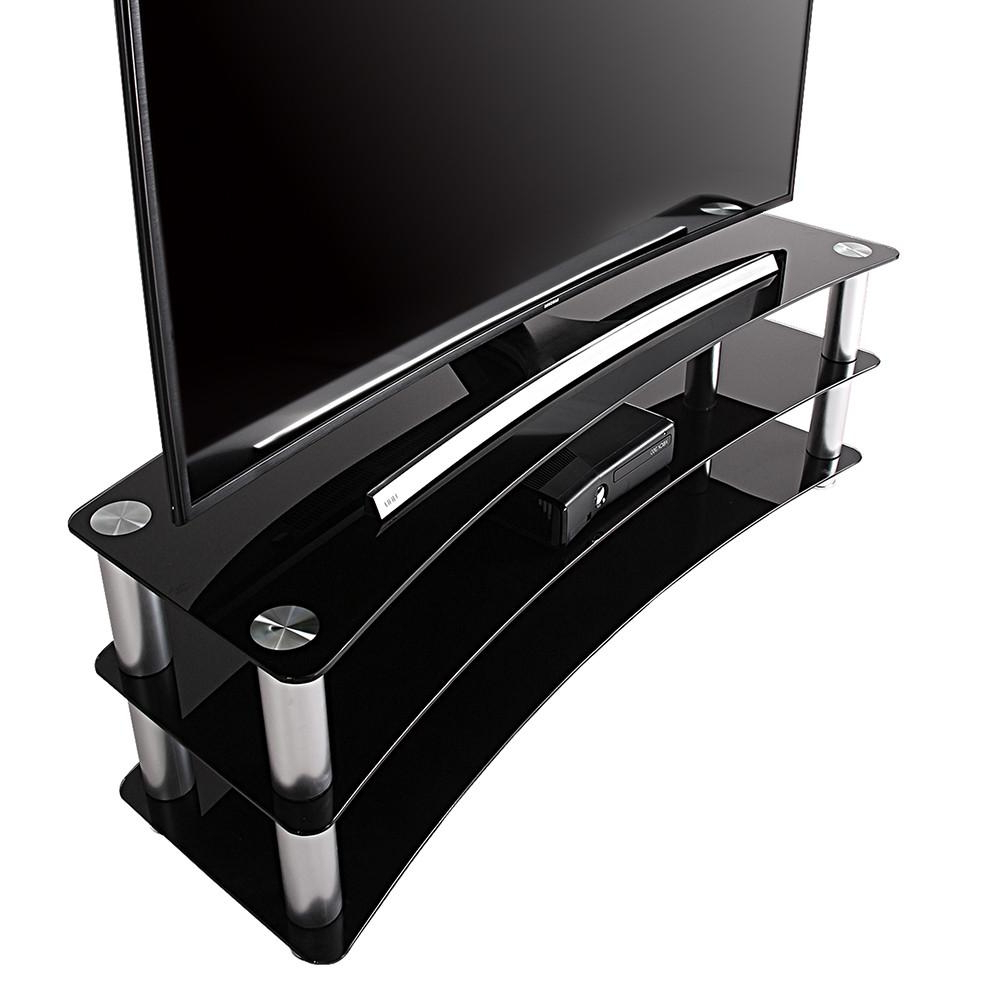 Universal 24 Inch Tv Stands Intended For Widely Used Fitueyes Tv Stand Entertainment Center Media Furniture Fit Curved (View 5 of 20)