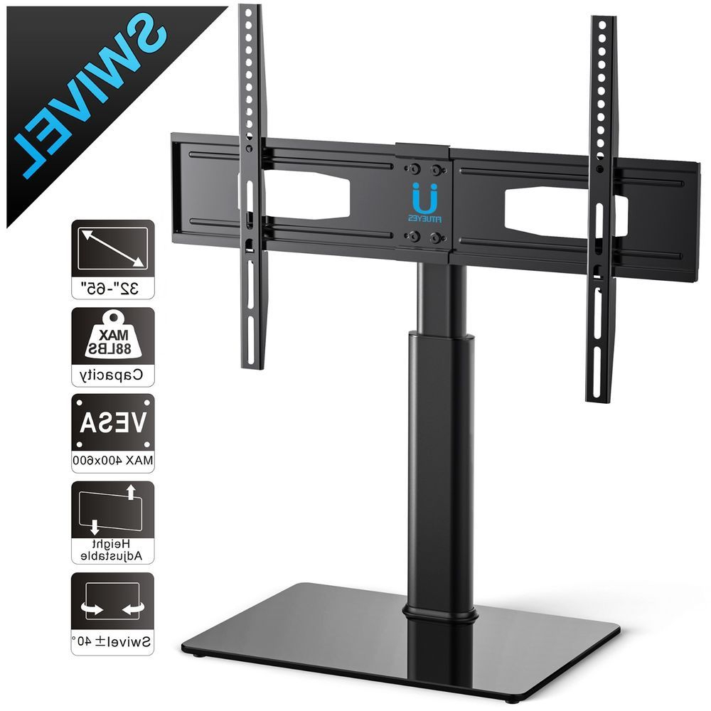 Universal Tv Stand Corner Table Top Tv Riser For Up To 65 Inch Sony Pertaining To Recent Swivel Tv Riser (View 16 of 20)