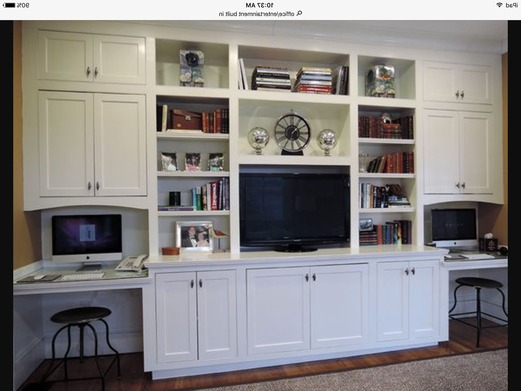 Unusual Tv Cabinets Intended For Most Recently Released Wall Unit With Tv And Workstation (View 16 of 20)