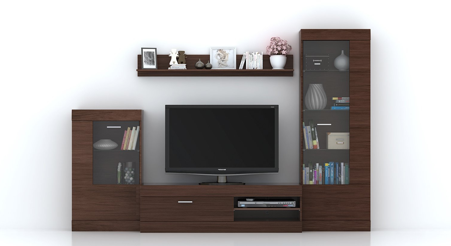 Urban Ladder Ferdinand Solid Wood Entertainment Tv Unit (Laminate Pertaining To Well Known Echo Tv Units (Gallery 6 of 20)