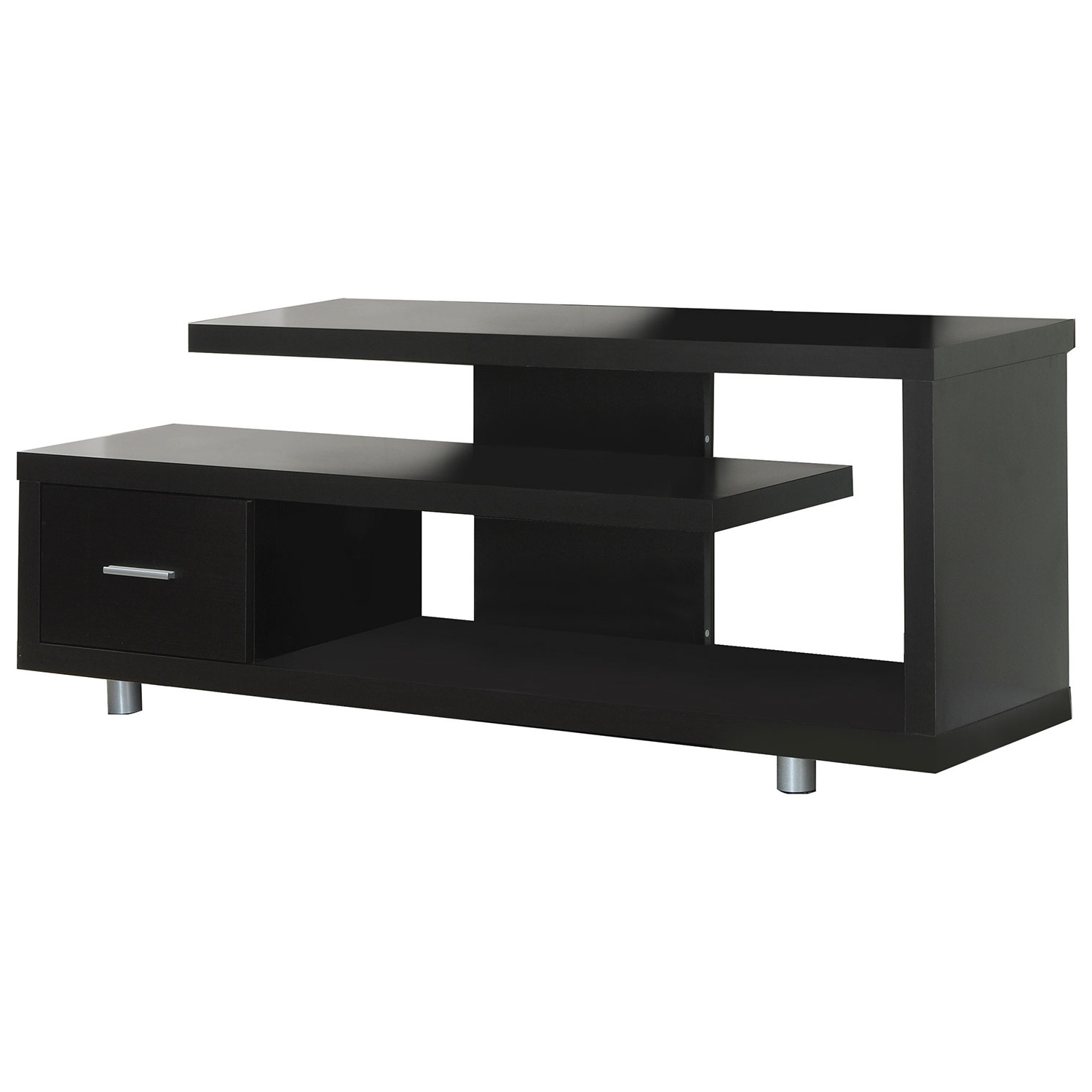 "Valencia 60 Inch Tv Stands With Well Known Monarch Open Tv Stand For Tvs Up To 60"" (I 2572) – Cappuccino : Tv (View 15 of 20)"