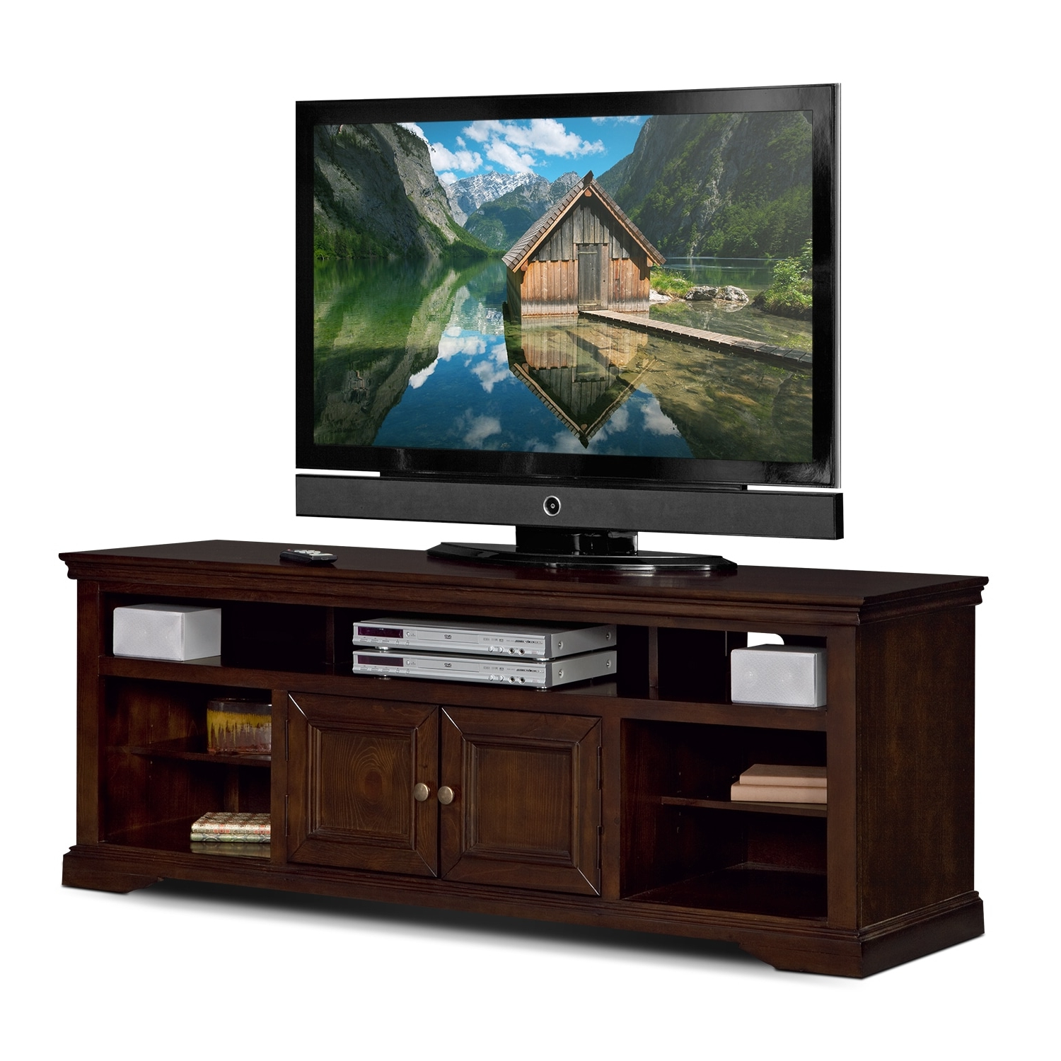 Value City Furniture And Mattresses Throughout Famous Cherry Wood Tv Stands (View 8 of 20)