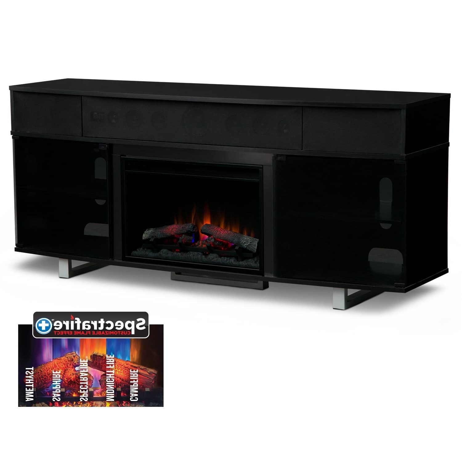 Value City Throughout Black Tv Cabinets With Drawers (View 17 of 20)