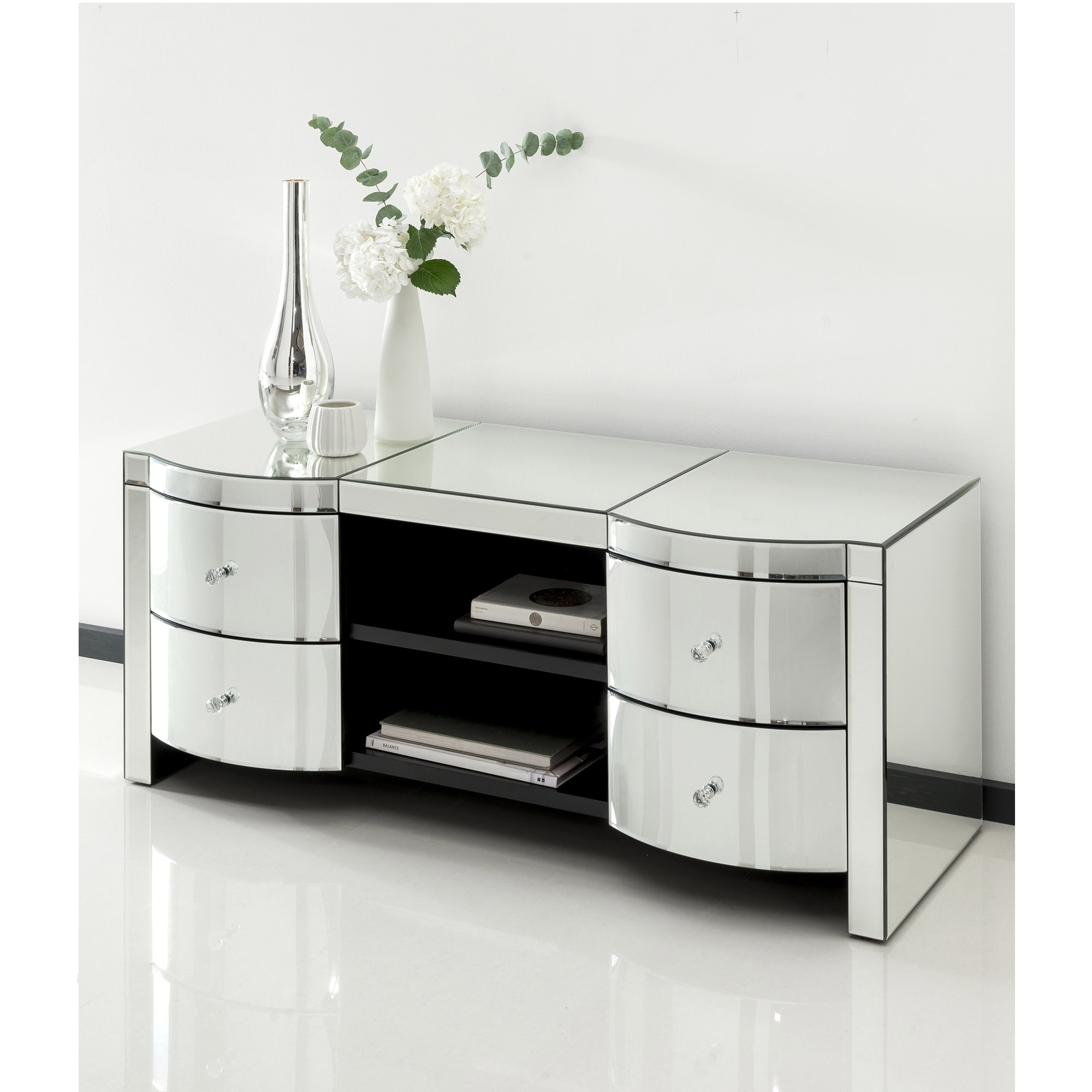 Venetian Mirrored Furniture Pertaining To Most Recently Released Mirrored Tv Cabinets Furniture (Gallery 1 of 20)