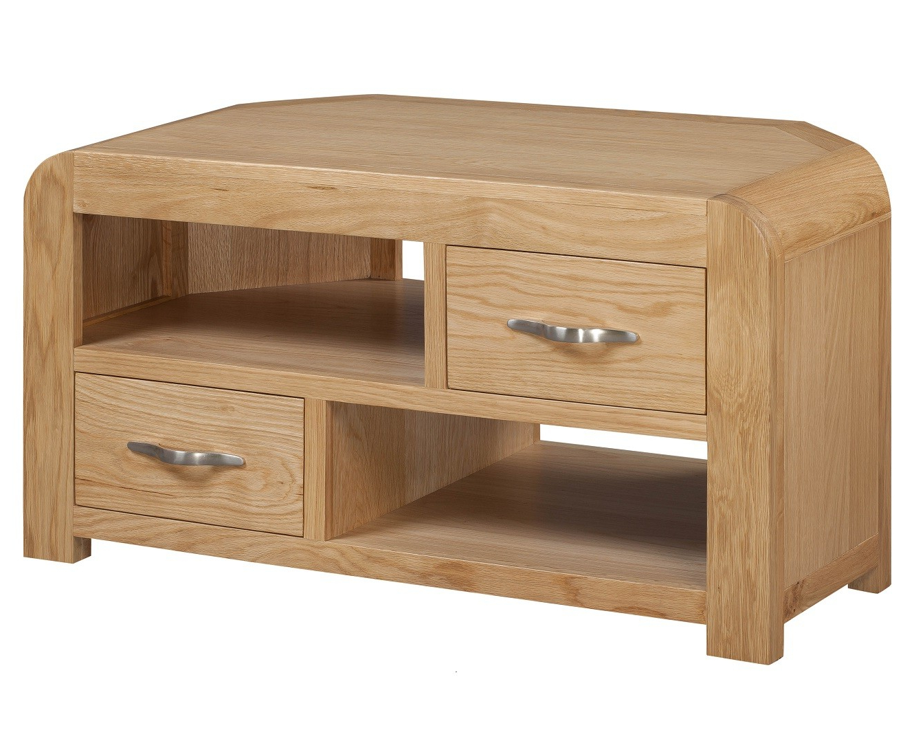 Verona Light Oak Corner Tv Unit (Gallery 19 of 20)