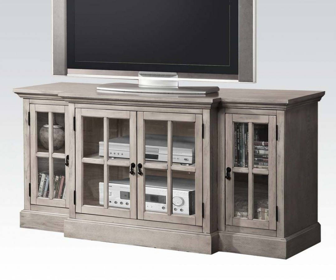 Vibrant Ideas Gray Tv Console Tv Stands Living Room Furniture The Within Current Sinclair Grey 74 Inch Tv Stands (View 17 of 20)