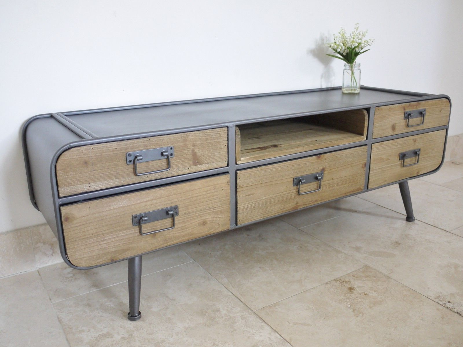 Featured Photo of Vintage Industrial Tv Stands