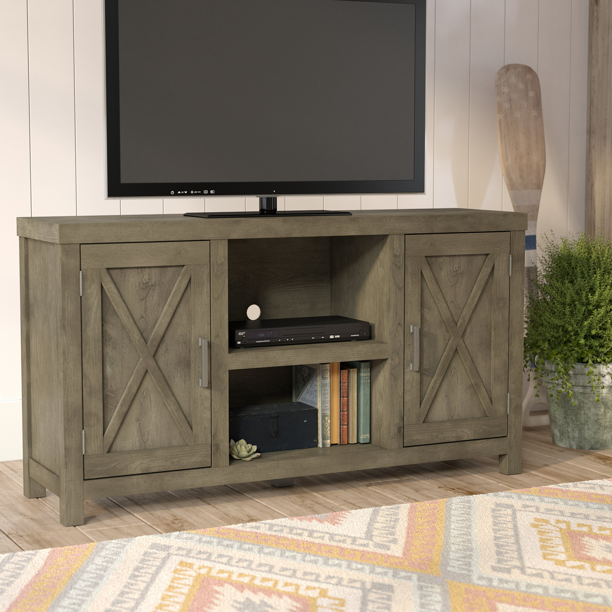"""Vista 60 Inch Tv Stands In Newest Loon Peak Dodson Tv Stand For Tvs Up To 60"""" & Reviews (View 13 of 20)"""