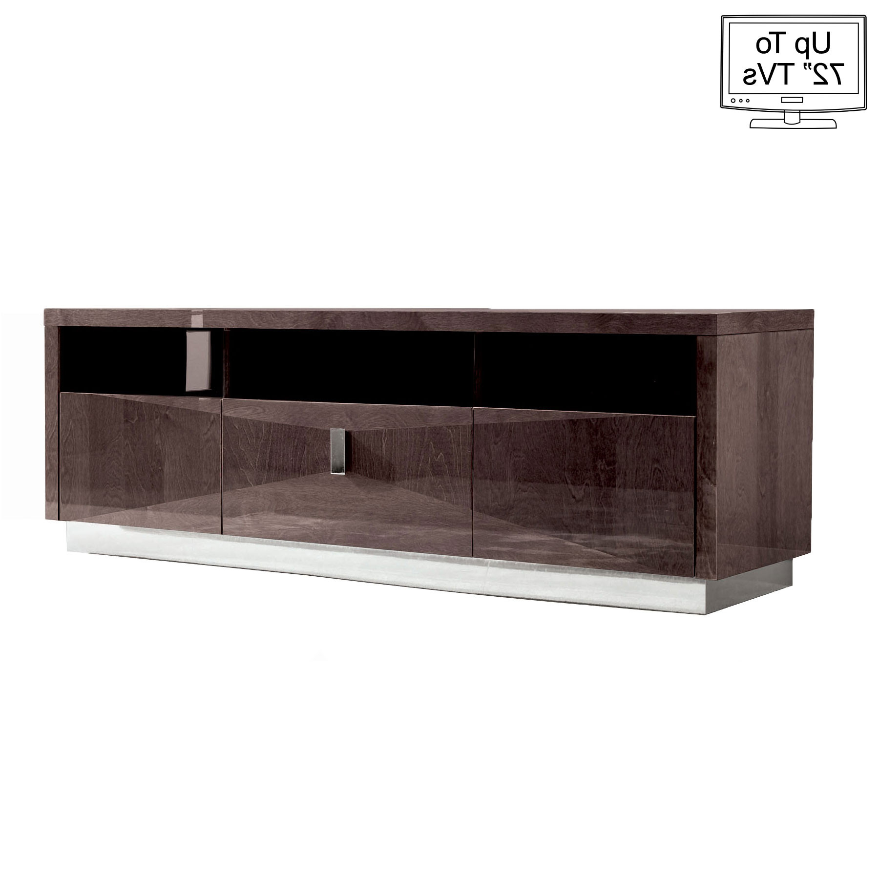 "Vogue High Gloss Tv Stand For Up To 72"" Tvs Inside Widely Used Gloss Tv Stands (Gallery 14 of 20)"