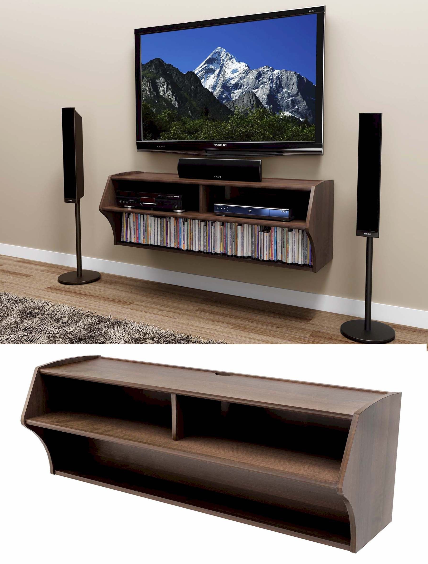 Wall Mounted Tv Stand With Shelf (View 15 of 20)