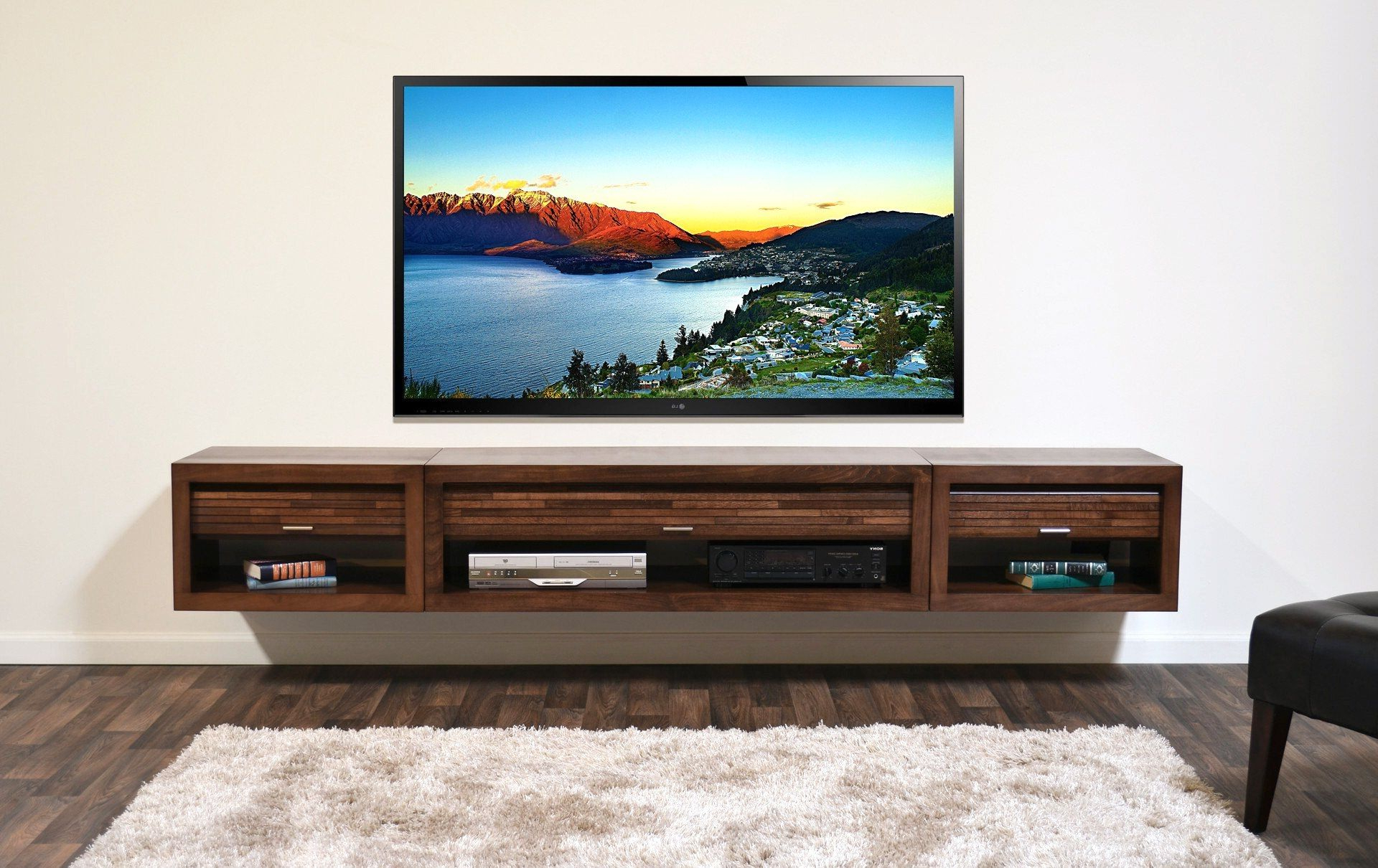 Wall Mounted Tv Stands For Flat Screens Within Current Wall Mount Tv Stands — Allin The Details : Tips For Beautify Your (View 17 of 20)