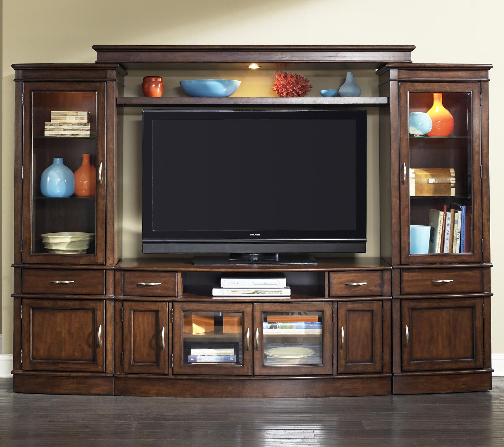 Wall Unit Pertaining To Wood Tv Entertainment Stands (View 11 of 20)