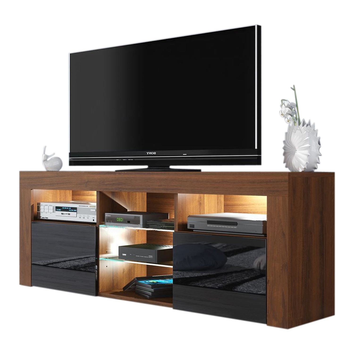 Walnut And Black Gloss Tv Units Pertaining To Popular Cheap High Gloss Walnut Tv Unit, Find High Gloss Walnut Tv Unit (View 9 of 20)