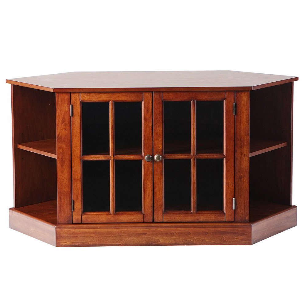 Walnut Corner Tv Stands For Trendy Shop Harper Blvd Crescent Walnut Corner Tv Stand – Free Shipping (View 5 of 20)