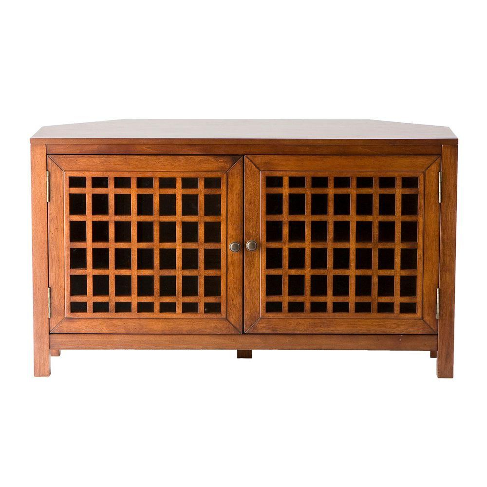 Walnut Corner Tv Stands Intended For Trendy Southern Enterprises Narita Walnut Entertainment Center Ms9871 – The (View 18 of 20)