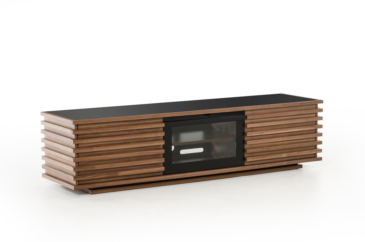 Walnut Tv Cabinets Throughout Well Known Nova Domus Fiorano Contemporary Walnut Tv Stand (View 18 of 20)