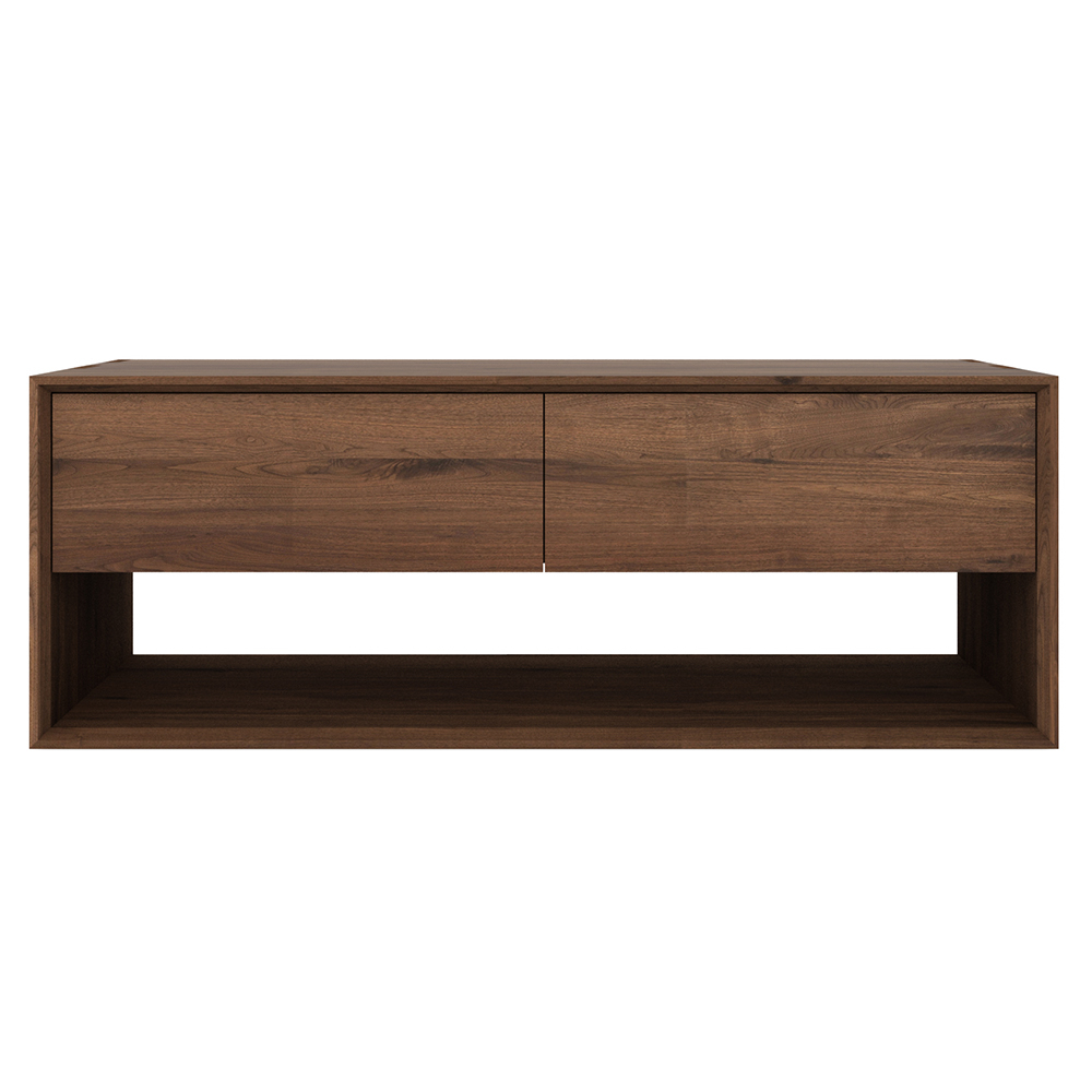 Walnut Tv Cabinets With Doors For Most Up To Date Nordic Tv Media Cabinet – 1 Door 1 Drawer – Walnut – Rouse Home (View 17 of 20)