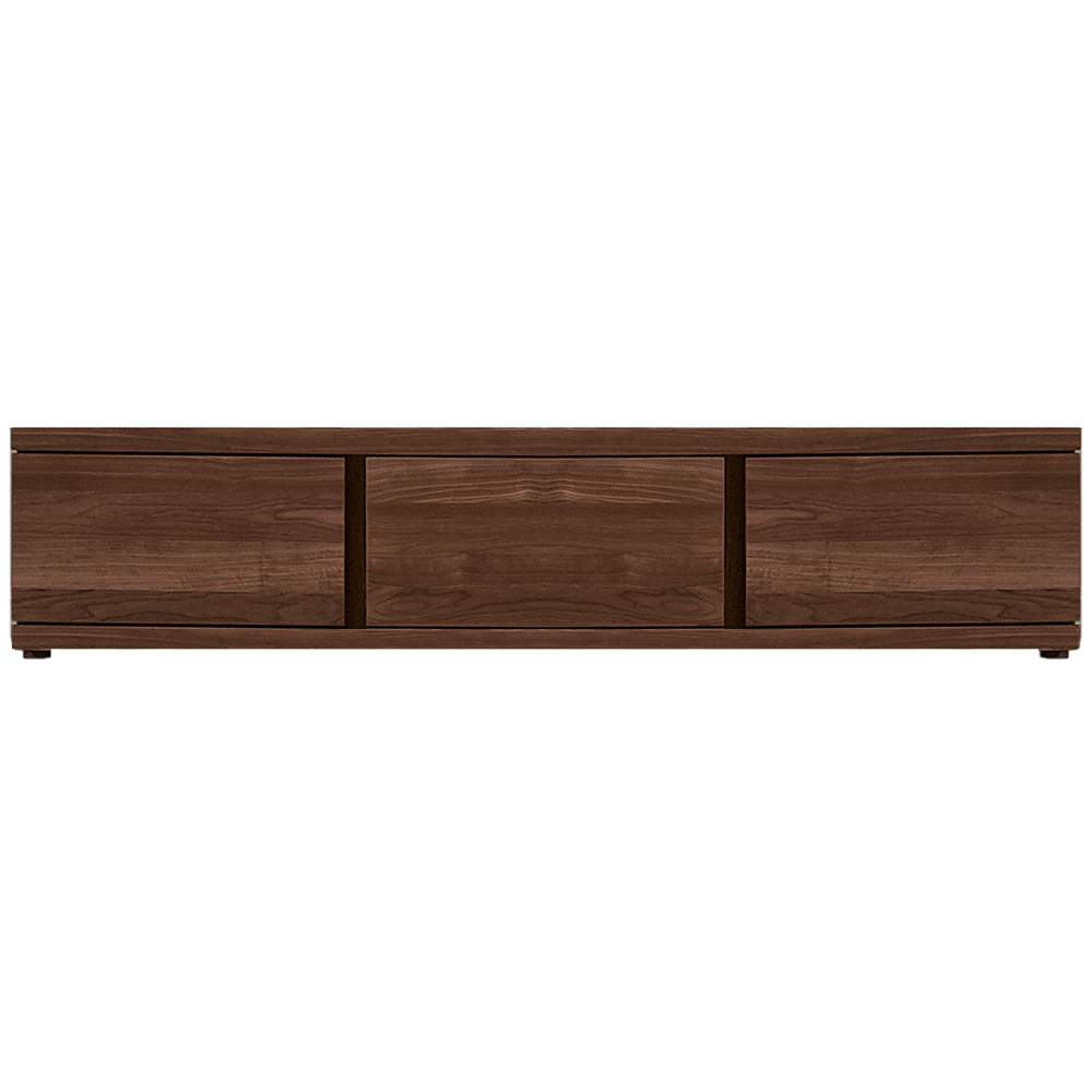 Walnut Tv Cabinets With Doors Regarding Most Current The V Plus Tv Lowboard – Walnut Tv Stand – Living Rooms (View 4 of 20)