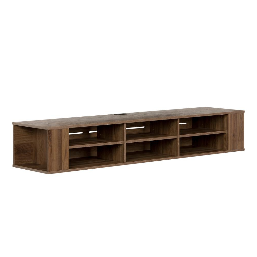 Walnut Tv Cabinets With Doors With 2018 South Shore City Life Natural Walnut Tv Stand Up To 70 In (View 8 of 20)