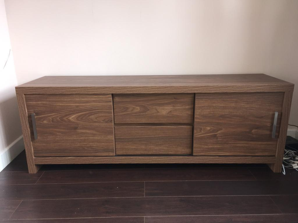 Walnut Tv Stands Intended For Most Up To Date Next Mode Walnut Tv Stand Storage Unit (View 11 of 20)