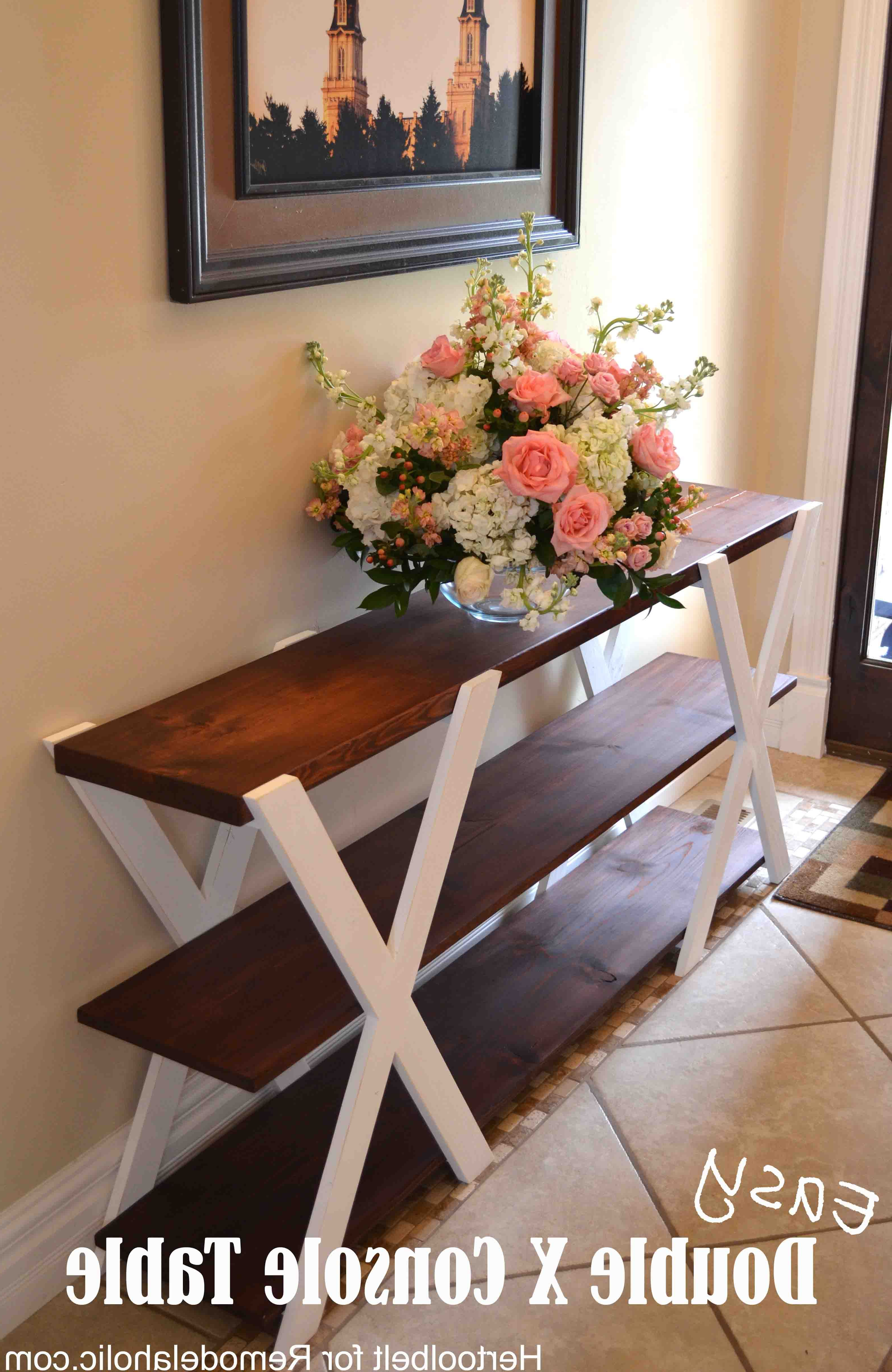 Walters Media Console Tables For Most Up To Date An Easy Build, Diy Double X Console Table For Your Entryway (View 17 of 20)
