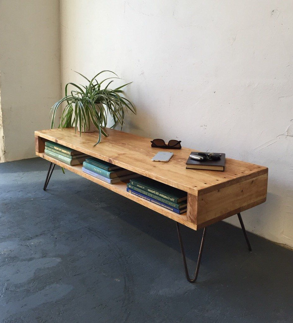 Walters Media Console Tables Intended For 2018 Oldfield Low Mid Century Style Side Table/derelictdesign (Gallery 12 of 20)