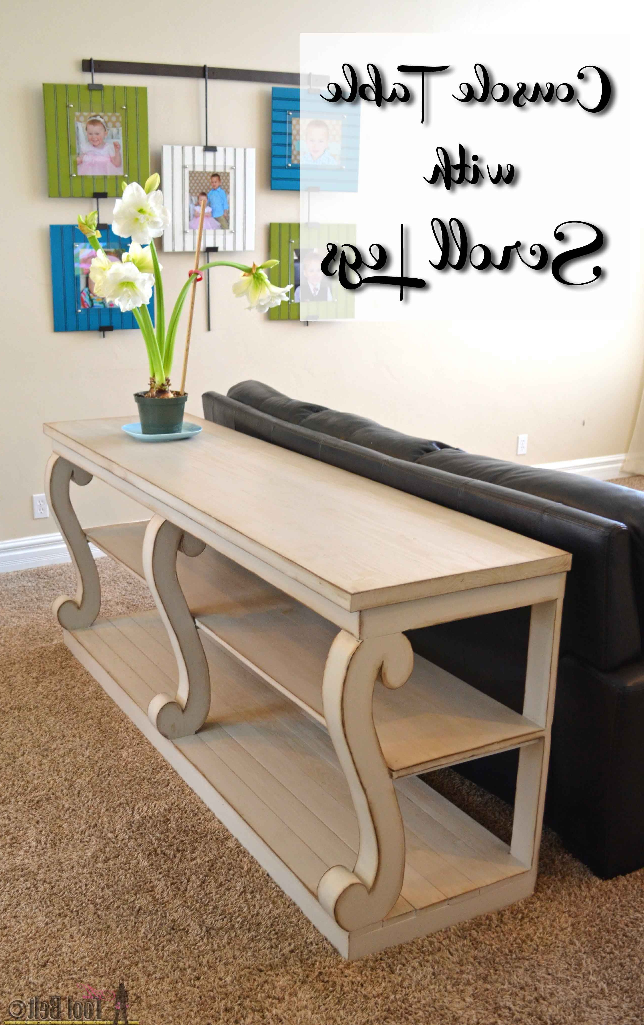 Walters Media Console Tables Throughout Favorite Console Table With Scroll Legs (View 18 of 20)