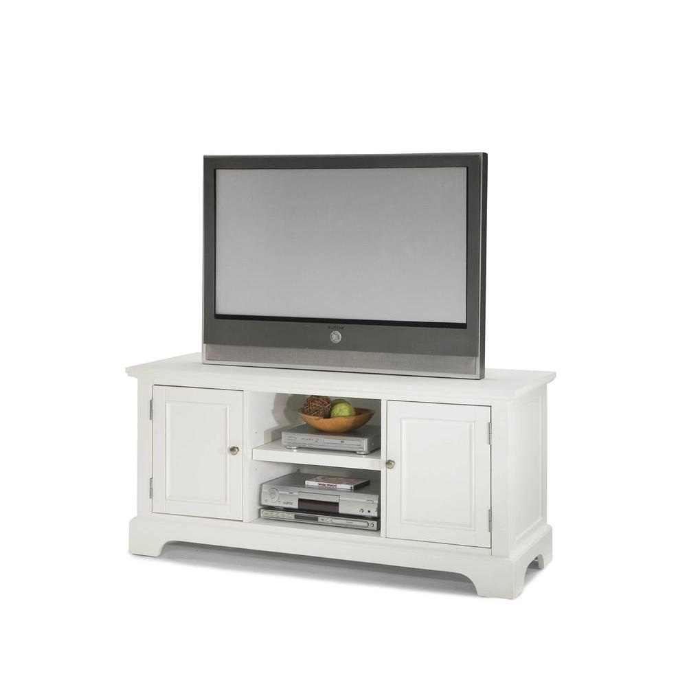 Walton 60 Inch Tv Stands Intended For Recent Sauder – White – Tv Stands – Living Room Furniture – The Home Depot (View 15 of 20)