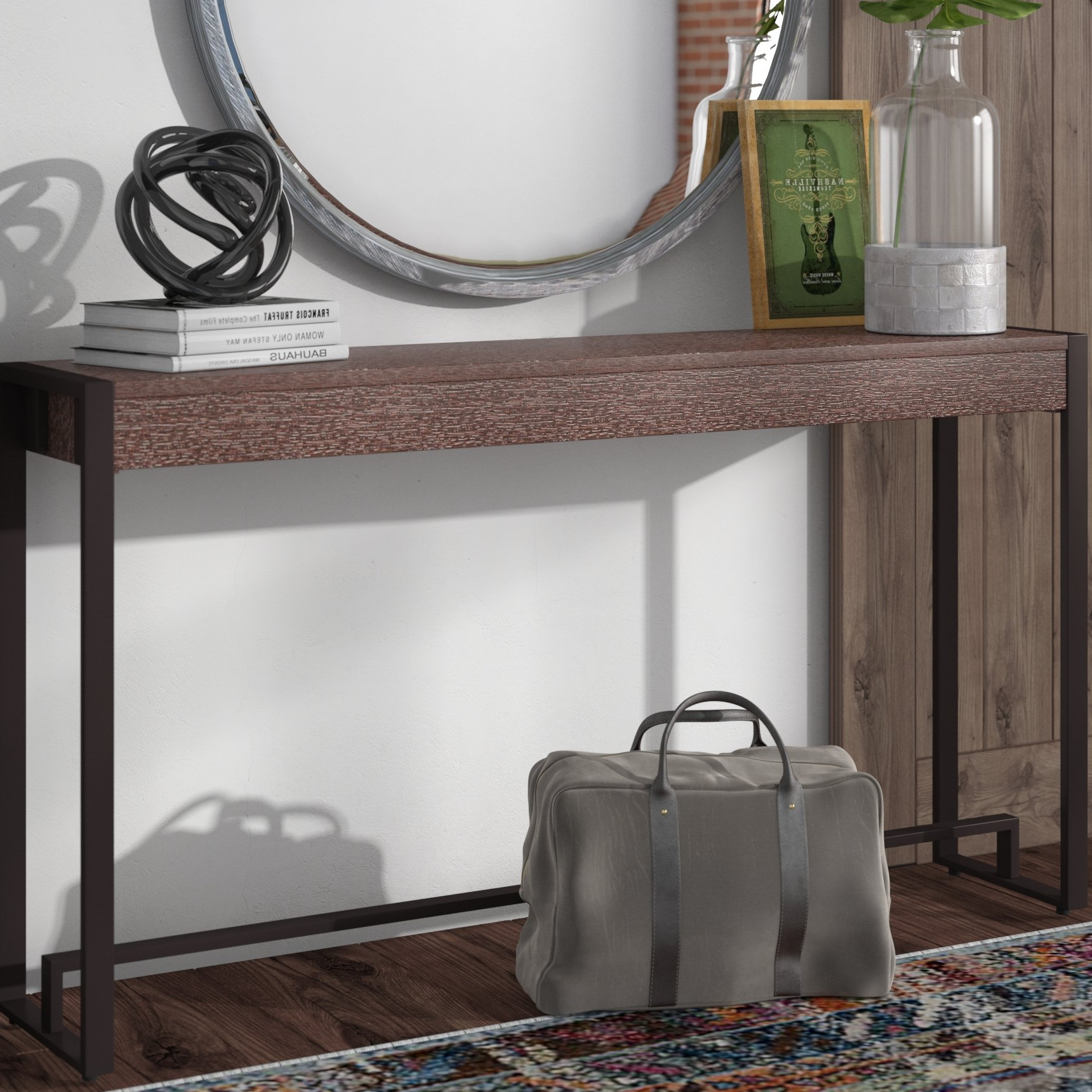 Wayfair In Parsons Grey Solid Surface Top & Elm Base 48x16 Console Tables (View 6 of 20)