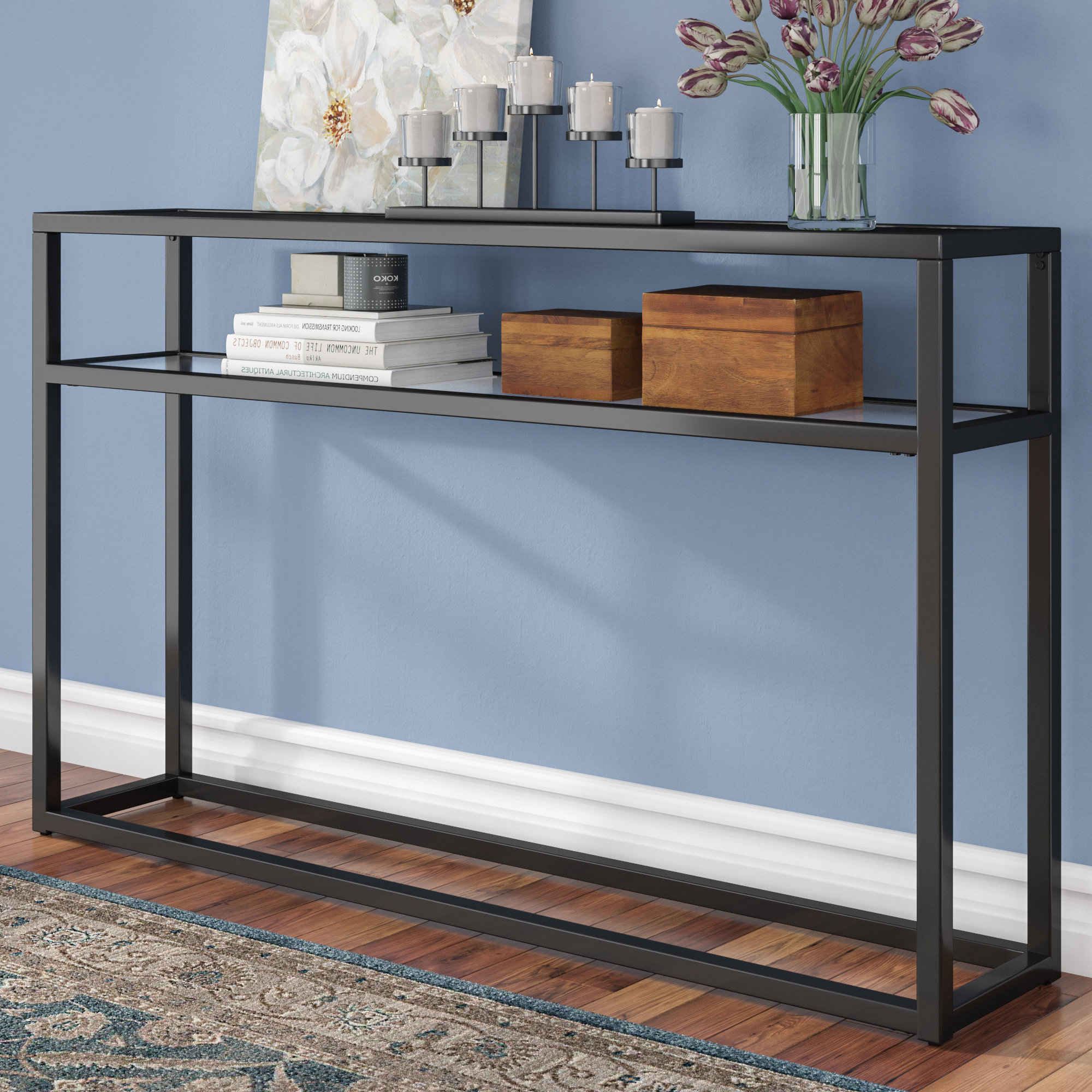 Wayfair Inside Mix Patina Metal Frame Console Tables (View 16 of 20)
