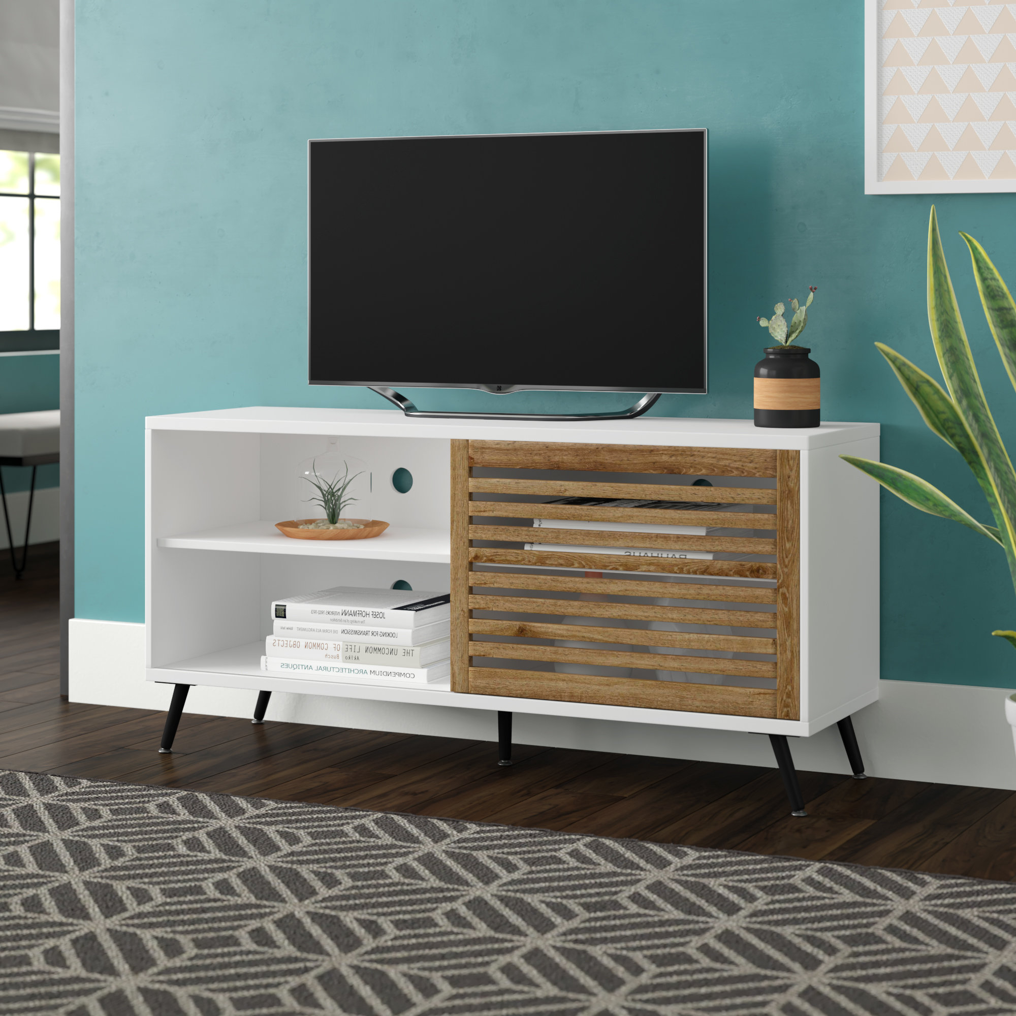 Wayfair Pertaining To Century White 60 Inch Tv Stands (View 9 of 20)