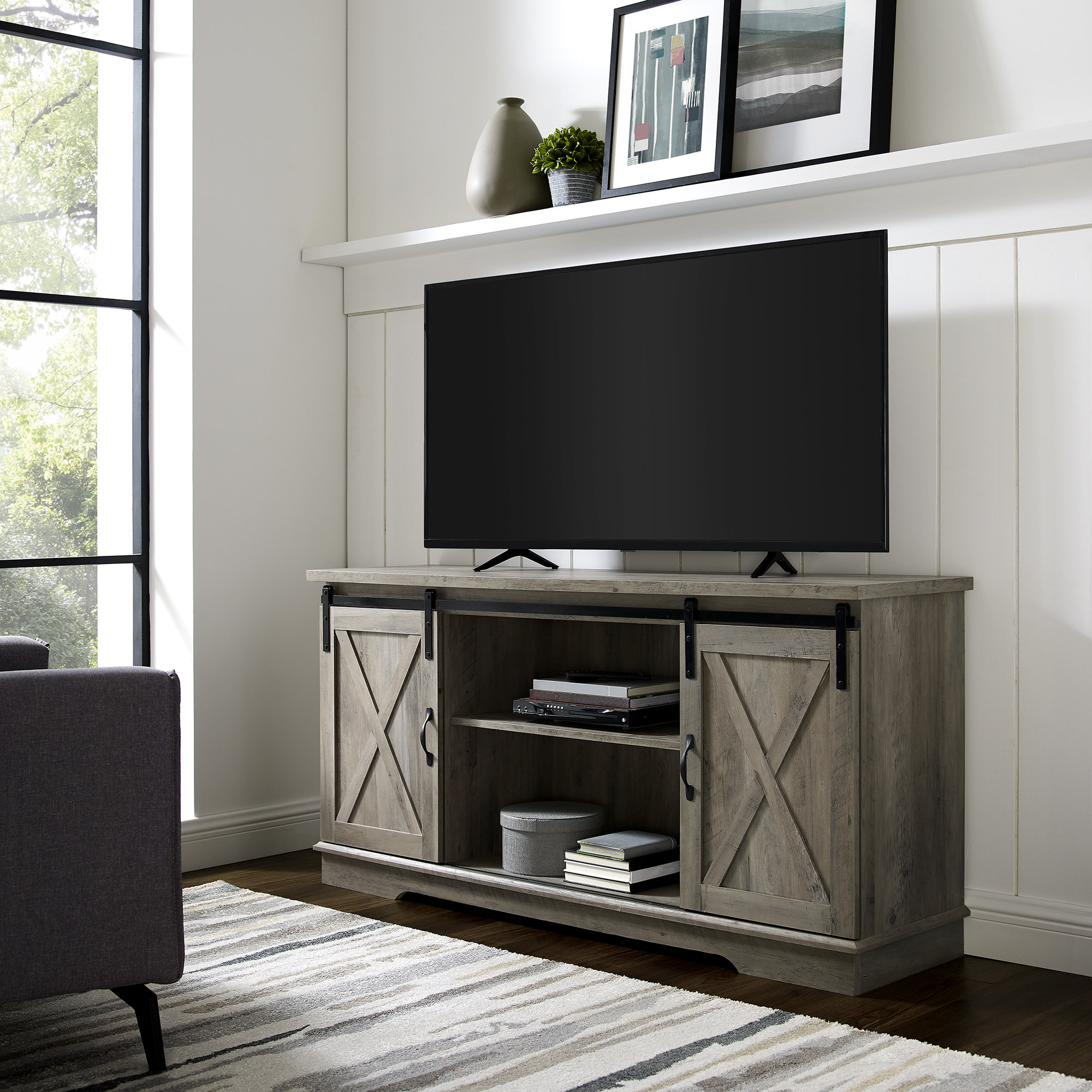 Wayfair Pertaining To Sinclair Grey 74 Inch Tv Stands (View 18 of 20)