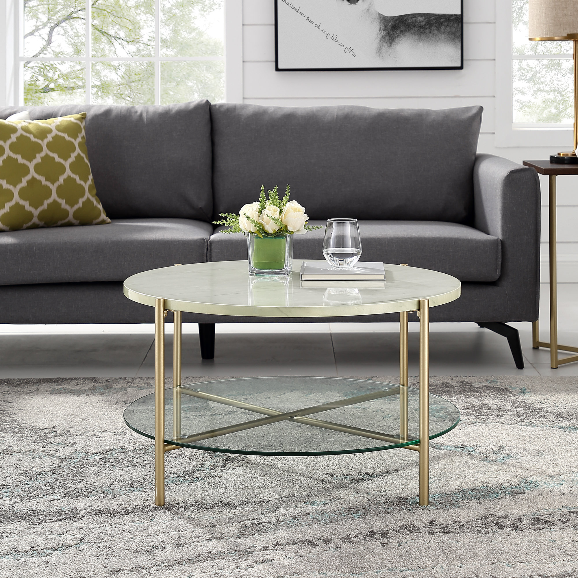 Wayfair Regarding Fashionable Elke Marble Console Tables With Polished Aluminum Base (View 20 of 20)