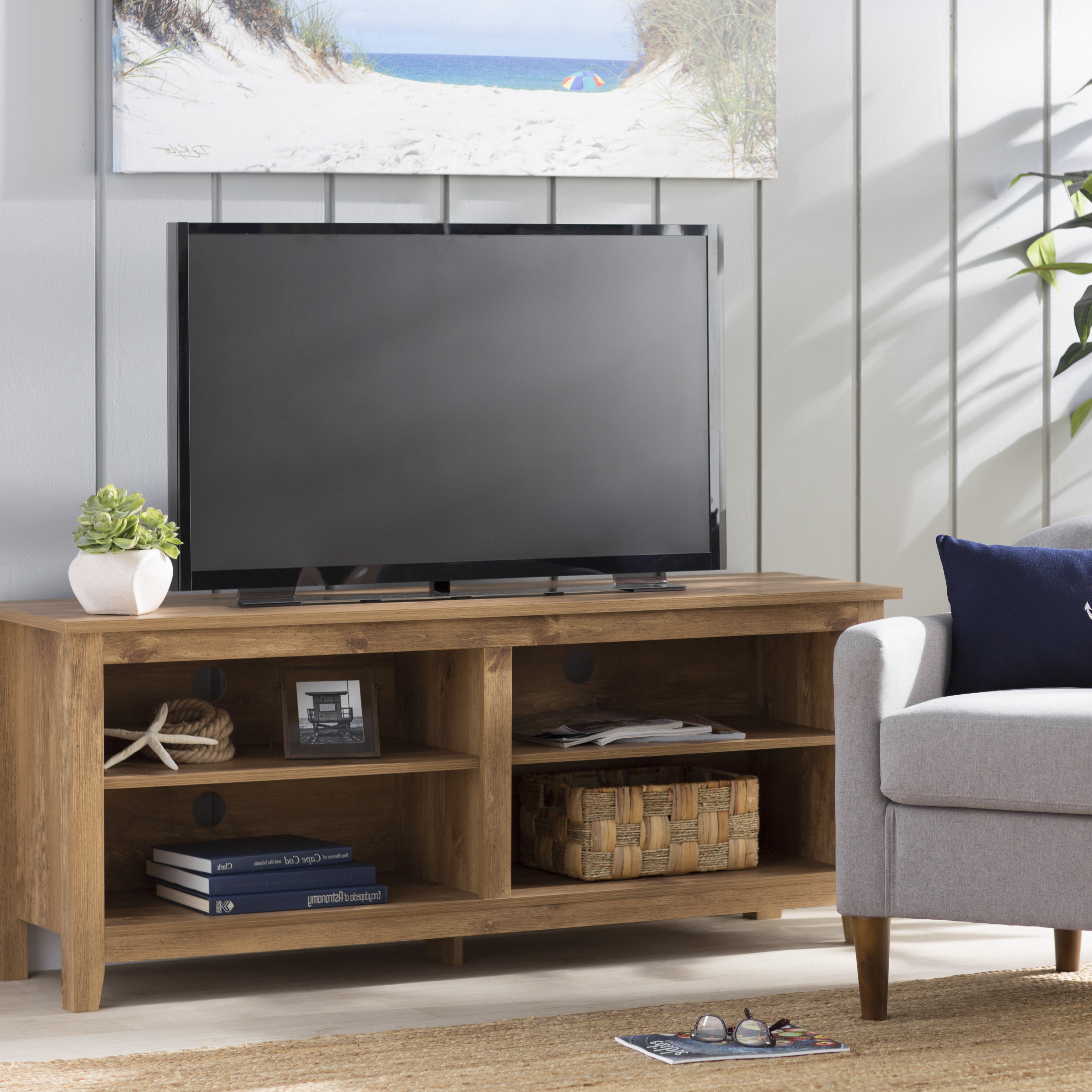 Wayfair Throughout Sinclair Blue 74 Inch Tv Stands (Gallery 17 of 20)