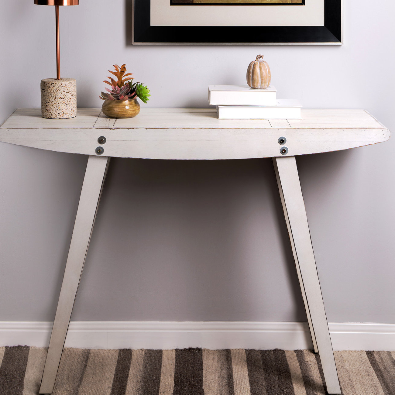 Wayfair Within Most Up To Date Hand Carved White Wash Console Tables (View 5 of 20)
