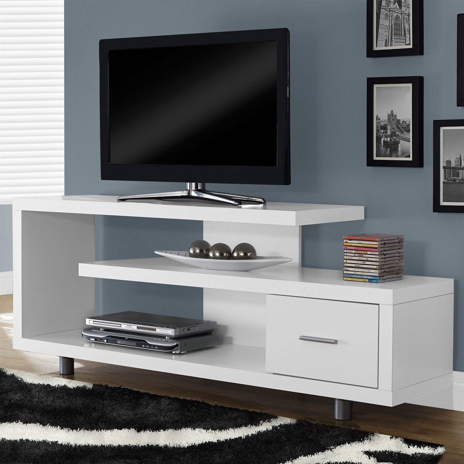 Well Known 24 Inch Wide Tv Stands For White Modern Tv Stand Fits Up To 60 Inch Flat Screen New 24 Wide (View 19 of 20)