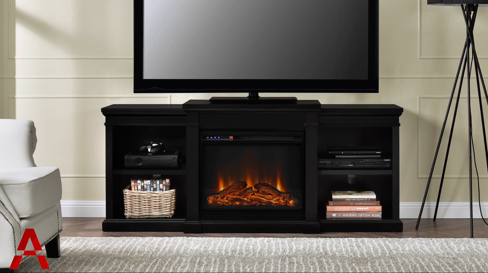 Well Known 50 Inch Fireplace Tv Stands Inside Ameriwood Furniture (View 19 of 20)