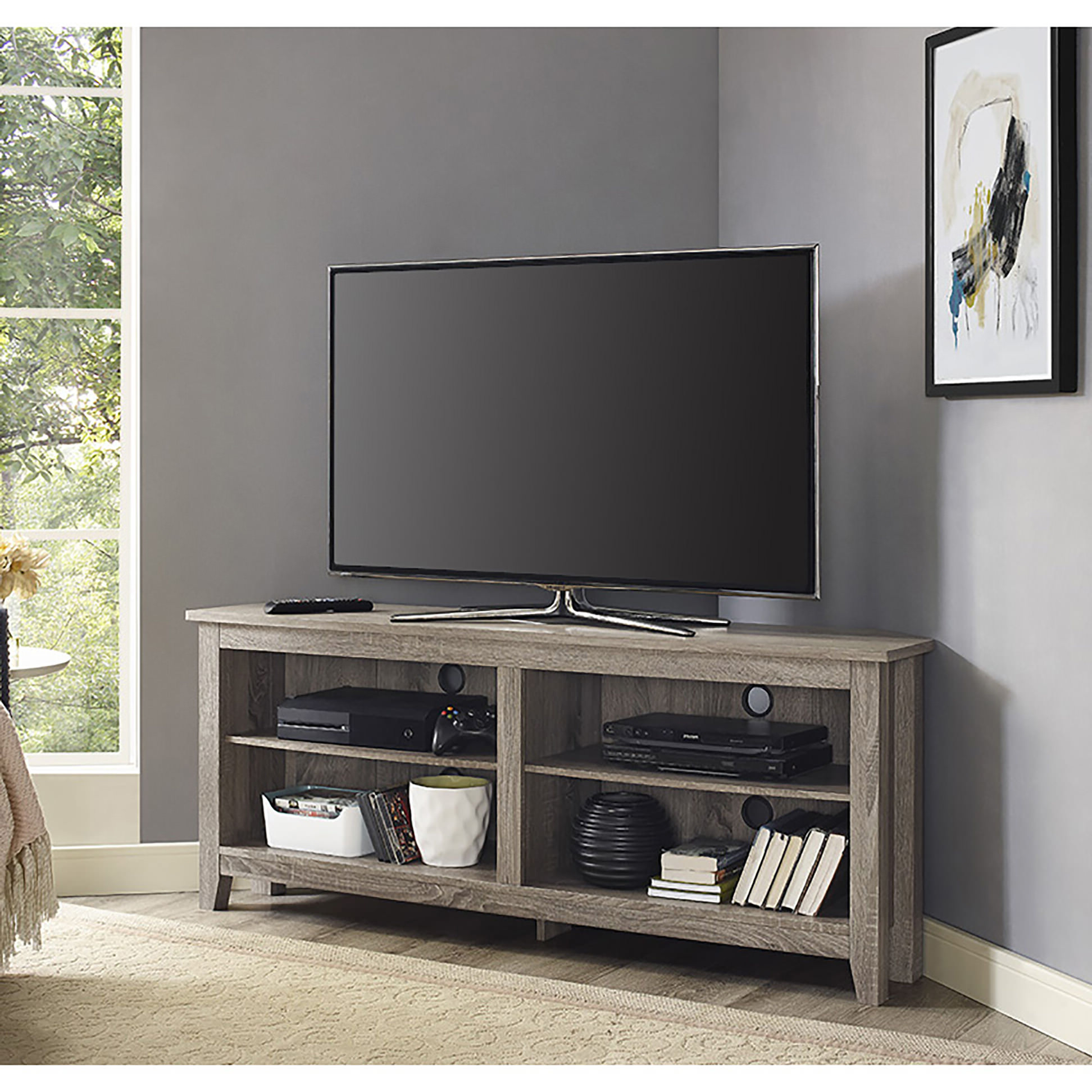 Well Known 58 Inch Corner Tv Stand – Driftwoodwalker Edison For Black Corner Tv Stands For Tvs Up To  (View 18 of 20)