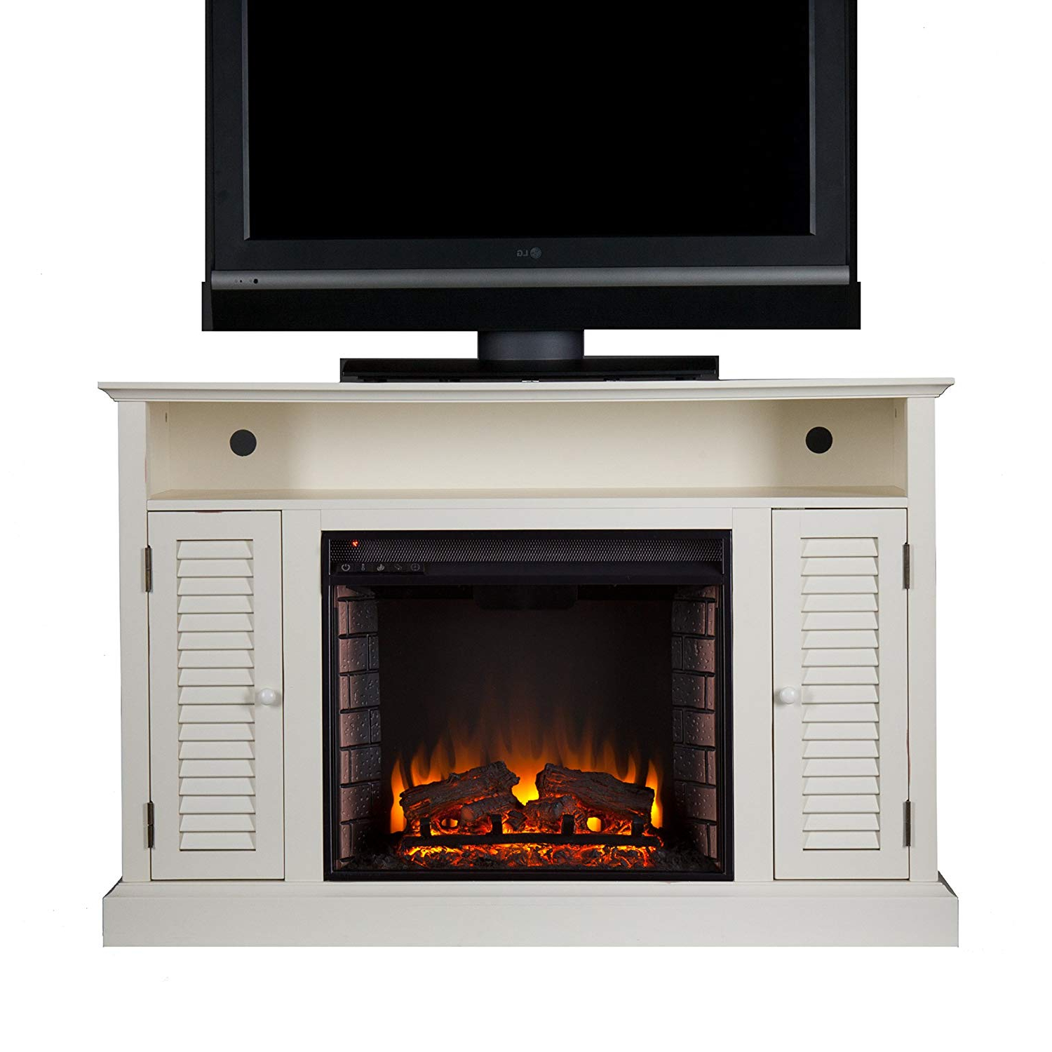 Well Known Amazon: Southern Enterprises Antebellum Media Electric Fireplace Intended For Walton 60 Inch Tv Stands (View 19 of 20)
