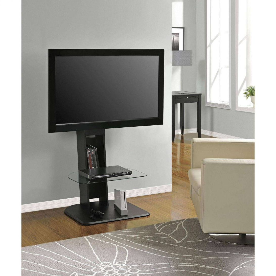 "Well Known Ameriwood Home Galaxy Tv Stand With Mount For Tvs Up To 50"", Black For Sleek Tv Stands (View 18 of 20)"