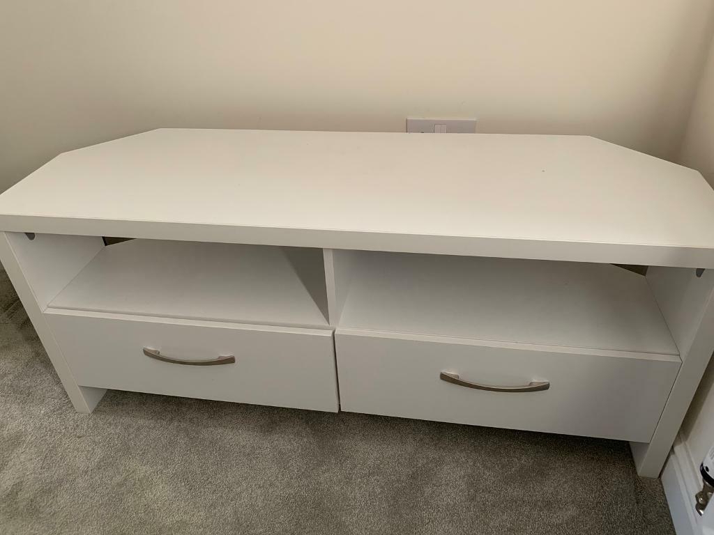 Well Known Argos 2 Drawer Large Corner Tv Unit White (View 16 of 20)