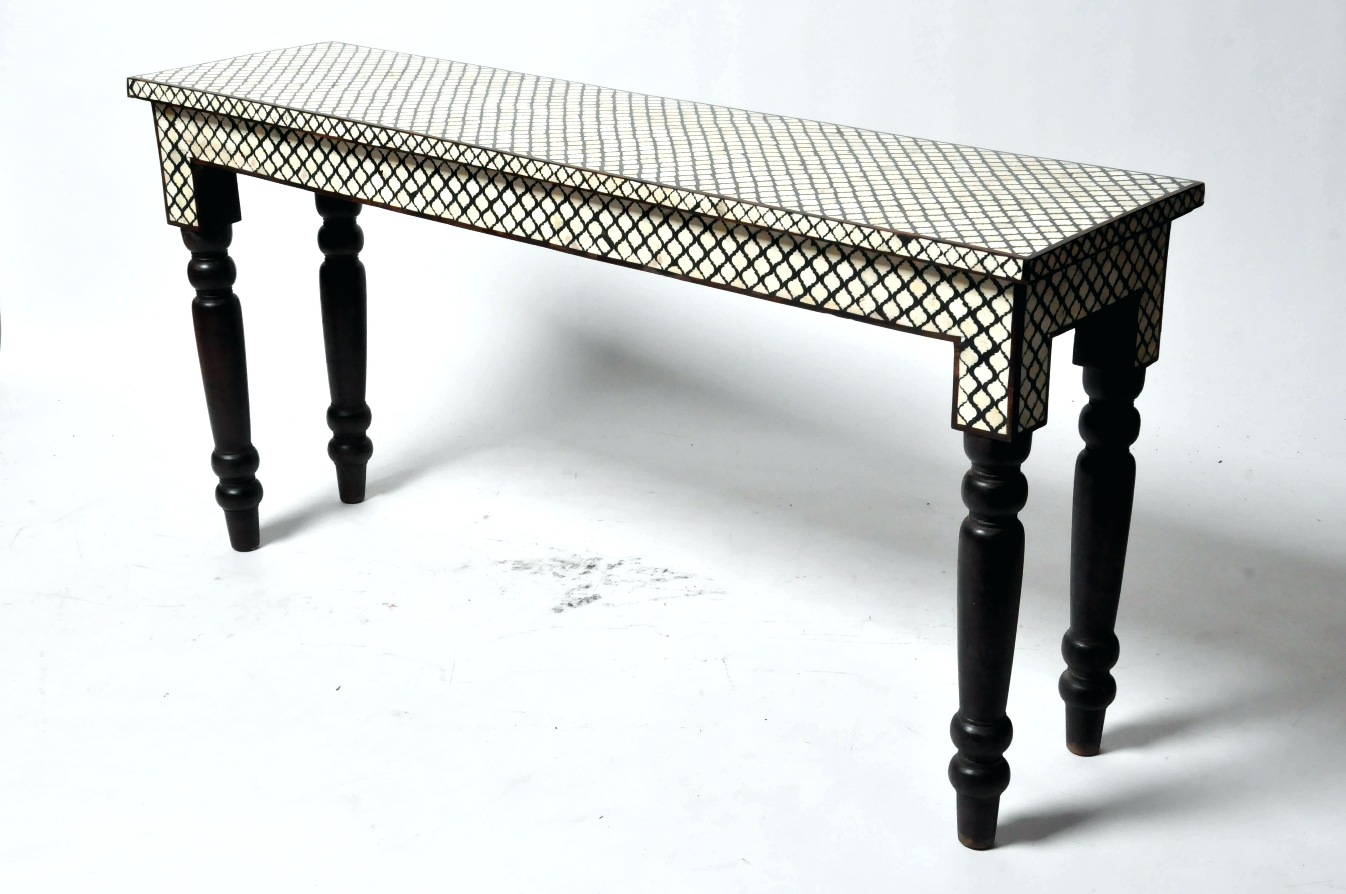 Well Known Bone Inlay Console Table Butler Black Bone Inlay Console Table Black In Black And White Inlay Console Tables (View 18 of 20)